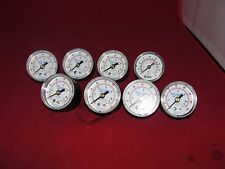 SMC 0-160 PSI Pressure Gauge Lot of  8