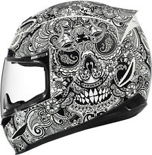 ICON AIRMADA Full Face Motorcycle Helmet CHANTILLY Gloss WHITE Size LARGE NEW