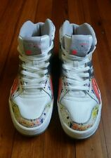 Reebok CLASSICS Paint Splatter Metallic Men's High Top Sneakers Size 8.5 RARE