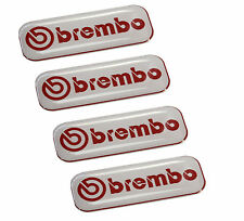 4 Domed Stickers Decals Auto Moto Motorsport Brembo Brake Caliper Racing Rally