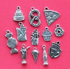 Junk Food Charm Collection 12 Tibetan Silver Tone Charms FREE Shipping E33