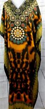 JESSICA TAYLOR WOMEN ONE FREE SIZE TUNIC KAFTAN  DRESS BROWN GREEN TURQUOISE