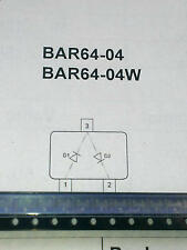 3 Stück BAR64-04  Dual PIN Switch/Attenuator Diode up to 3 GHz SOT23 (M1512)