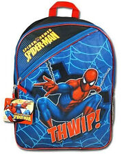 "Marvel SPIDERMAN Kids Boys School 16"" Large Backpack Bag NEW Children"