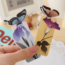 Lovely 3PCS Butterfly Shape Exquisite Bookmark Stationery Reading Accessories