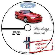 MANUALE OFFICINA FORD MUSTANG V6/V8 1994 1997 WORKSHOP MANUAL SERVICE CD DVD