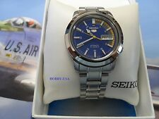 SEIKO  5  Stainless Steel Blue/Multicolored  Dial SEIKO Automatic  SNKK27-NEW