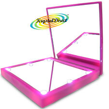 FLO Mirrrors LED Lights Compact Hand Make Up Mirror Fucsia Pink