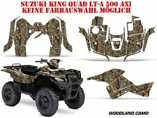 AMR RACING DEKOR KIT ATV SUZUKI KING QUAD LTA 450/500/700/750 WOODLAND CAMO B