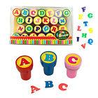 ABC Stempel Set selbstfärbend Kinder Buchstaben Alphabet Geschenk Einschulung