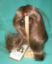 "doll wig/ human hair 10"" to 10.5"" brown long/Glorex/EHperücke 25-27 braun, lang"