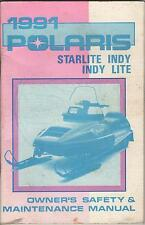 1991 POLARIS SNOWMOBILE STARLITE INDY/ INDY LITE  P/N 9911843 OWNERS MANUAL(089)