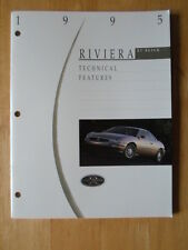 BUICK Riviera 1995 orig Technical Features USA Market prestige brochure