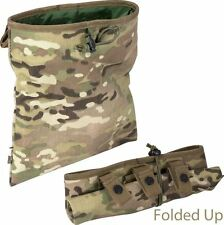 Multicam Airsoft Magazine Dump Bag Mag Drop Pouch Roll Up Molle MTP Shell Holder