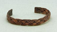 Armspange Armreif Kupfer 12 mm breit geflochten Neu und ungetragen