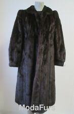 Women's Sz 8 Natural Dark Ranch Mink Fur Coat VG Clearance Sale