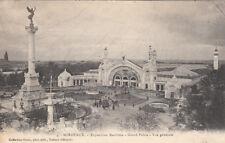 BORDEAUX 4 exposition maritime grand palais vue générale timbrée 1907