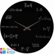 MATH EQUATION BOARD WALL CLOCK BLACK MODERN ROUND HOME OFFICE NOVELTY GIFTS NEW