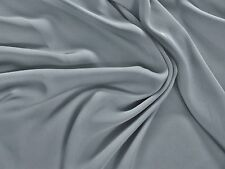 LIGHTWEIGHT SILKY SATIN CHIFFON-GREY-DRESS  FABRIC-FREE P+P