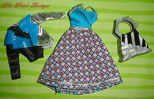 MONSTER HIGH FRANKIE STEIN DOLL FASHION PACK DRESS JACKET PURSE OUTFIT LOT