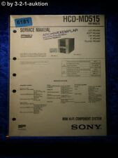 Sony Service Manual HCD MD515 Mini Component System (#6181)