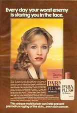 1980 Paba Plus Skin Care Lotion Retro Print Advertisement Ad Vintage VTG 80s
