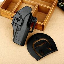 Quick Draw Right Handed Gun Holster w Paddle Waist Belt for Glock 17 18 19 23 26