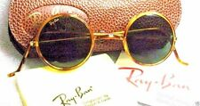 "RAY-BAN *NOS VINTAGE B&L ""CHEYENNE II"" W1748 Honey *Lennon Style *NEW SUNGLASSES"