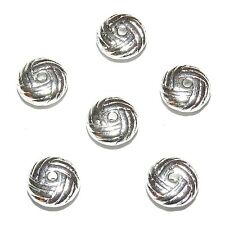 MB7214L2 Woven Knot 10mm Silver Rondelle Plated-Zinc Alloy Metal Beads 25/pkg