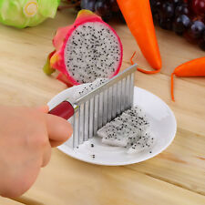 Crinkle Cut Knife Potato Chip Cutter With Wavy Blade French Fry Cutter UL