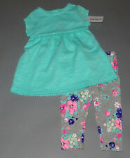 Baby girl clothes, NEWBORN, Carter's embroidered top/matching floral pants