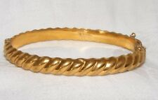 VINTAGE ROLLED GOLD HINGED BANGLE TWISTED DESIGN 1/20 9CT ROLLED GOLD