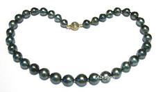 """17.5"""" 9-12mm Baroque Tahitian Black Pearl Strand Nacklace W/ 14K Gold Clasp"""