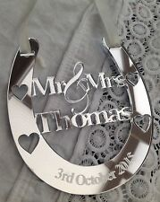 Personalised Wedding Mr & Mrs  Bridal Gift and Keepsake Good Luck Horseshoe