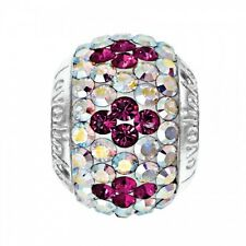 Genuine Lovelinks Sterling Silver and Crystal Charm Link 11831496-24 rrp £45.95