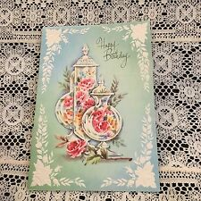 Vintage Greeting Card Birthday Candy Dish Pastel