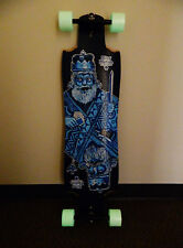 "Motion Decker Drop Thru 36.75"" x 10"" Longboard Complete Glow In Dark Wheels"