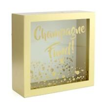 Champagne Fund Money Box Gift With Glass Front LP29805