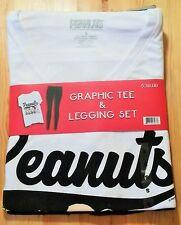 Snoopy / Peanuts // Set Legging + T- Shirt weiß schwarz / Gr. S /Neu