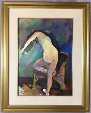 Peinture fauve sur panneau Nu féminin signé Roder ?