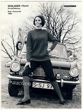 "WOMAN Knitwear ""OPEL KADETT A"" A MAGLIA MODA * VINTAGE 50s FASHION PHOTO by Seufert"