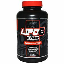 Nutrex Research Labs Lipo6 Black Extreme Potency Weight Loss 120 Capsules
