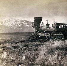 Train, Alfred Hart, antique Photograph, Central Pacific Railroad, Sierras, 12x12