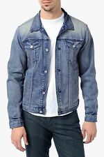 $278 7 for all mankind sz L JEAN JACKET WASHED OUT men Demin Vintage Collection