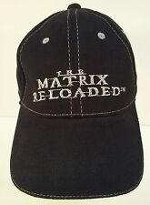 The Matrix Reloaded Official Warner Bros Embroidered Silver Black Movie Hat Cap