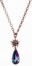 KIRKS FOLLY ASTRAL ROSE GOLD STAR SHIMMER CRYSTAL DREAM NECKLACE ~ NEW RELEASE~