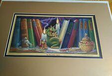 1993 RANDAL SPANGLER DRAGLINGS THE MISTERY SHELF PRINT, SIGNED 44/950