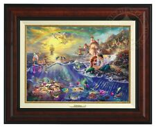 Thomas Kinkade -Disney's Little Mermaid – Canvas Classic (Burl Frame)
