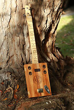 Cigar Box Guitar 3 or 4 string, how to build or make dvd for your own amp or kit