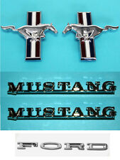 NEW 1964-1966 Ford Mustang  200 Six Emblem Kit Running Horse Script and Fenders